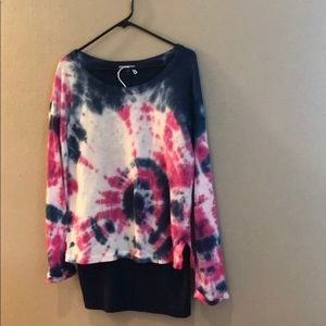 Tie dyed recycle James Perse long sleeve top